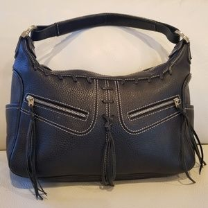 AUTHENTIC Tod's Black Leather Hobo Bag